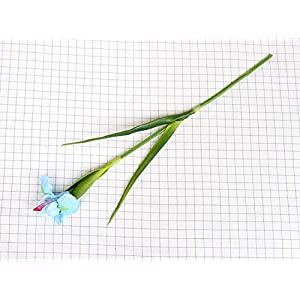 Silk Flower Arrangements Artificial and Dried Flower High-Grade Iris Artificial Flower PU Feel Fake Flower Orchid Wedding Party Christmas Home Decoration DIY