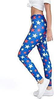Tstars 4th of July Leggings for Women - USA American Flag Patriotic Leggings