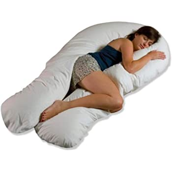 Moonlight Comfort-U Total Body Pregnancy Support Pillow and White Cover. Full Size. Comfort U Total Body Support.
