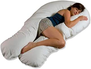 Moonlight Slumber - Comfort U Total Body Support Pillow - White (Full Size)