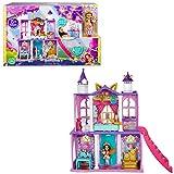 Royal Enchantimals Catillo del baile real con Felicity Fox y Flick Casa de juguete con muñeca, mascota y accesorios (Mattel HCG59)