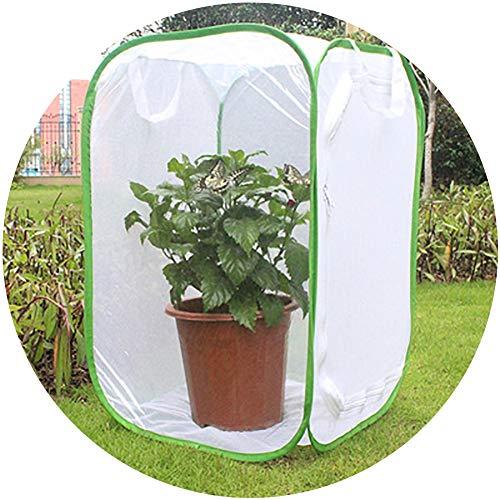 HWLL Mini Invernadero, Carpa Emergente Casa de Cultivo de PVC, Protección de la Flor del Patio de la Cubierta Maceta del Jardín Interior Al Aire Libre Pequeño