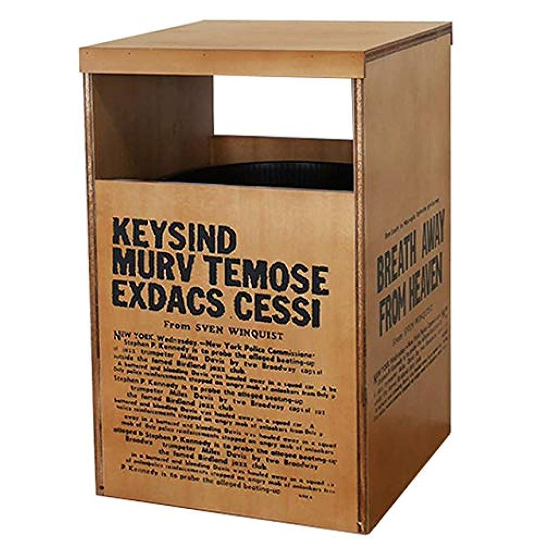 教えるタイプライター挑むBREA-1279BR 日本製 木製 フタ付き ダストボックスNo.6 ゴミ箱 (ブラウン)