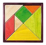 Jeujura jeujuraj2213618cm Color Tangram Juego en Bandeja de Madera