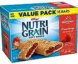 Kellogg's Nutri Grain Soft Baked Rise & Thrive 16 Breakfast Bars Strawberry Value Pack