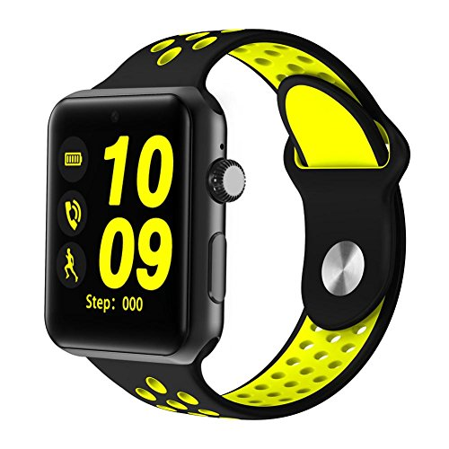 Joyeer Smart Watch Guarda la Cinghia con la SIM Card Dial Call Messaggio Push Pedometer Sedentario Promemoria Sleep Monitor Telecamera Telecamera Multiple UI Smartband per Android iOS