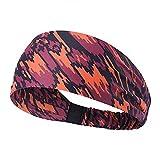 PPLAX Yoga Stirnband Elastisches Schweißband, atmungsaktiv, schweißabsorbierend, Übung Fahrrad Stirnband, Yoga-Haar, Stirnband, Sportsicherheit (Color : Red)