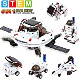 Solar Robot Kit 6-in-1 Educational Stem Robot Toys for Kids Aged 8-12, Science Building Set Gift for Boys Girls Students Teens, DIY Assembly Kit with Solar Powered