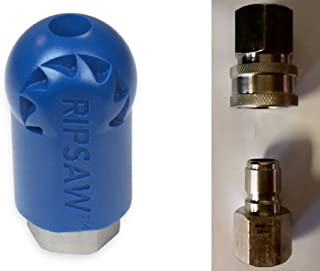 Bundle - 3 items: Ripsaw Rotating Turbo Nozzle (12.0), Male & Female Stainless Steel Socket