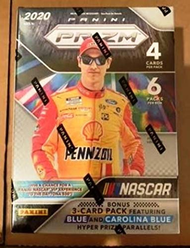 2020 Panini Prizm NASCAR Racing Blaster Box FACTORY SEALED includes 1 Bonus Pack containing Exclusive Blue/Carolina Blue & Green/Yellow Prizms