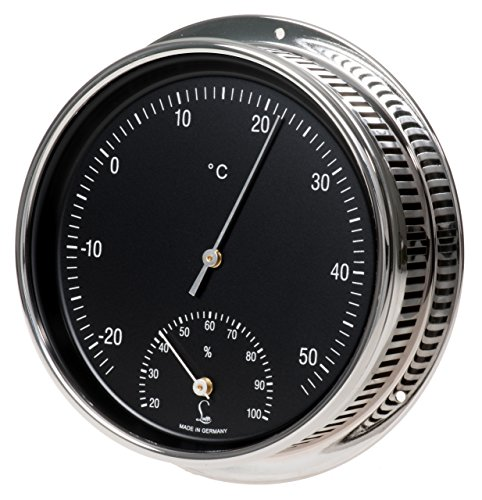 LUFFT Klimamesser - Bimetall Thermometer, kombiniert mit Hygrometer zur Messung des Raumklimas - Ø 150 mm