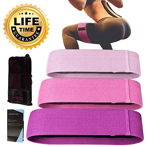 Resistance Bands Booty Bands Hip Bands for Legs and Butt Fabric Exercise Bands for Women Men Cloth Workout Bands Heavy Resistance Loops Anti Slip Thick Wide Circle Hips Glute