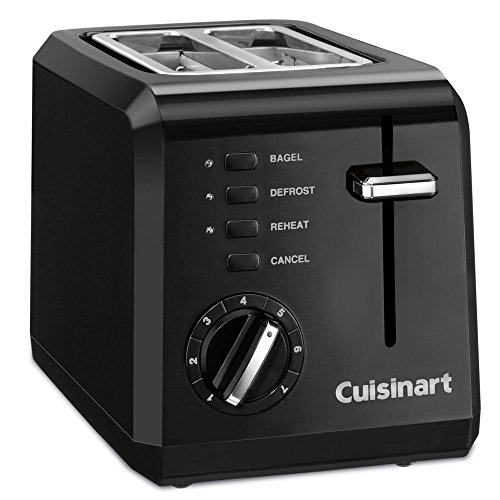 Cuisinart CPT-122BK 2-Slice Compact Plastic Toaster, Black