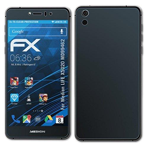 atFolix Schutzfolie kompatibel mit Medion Life X5020 MD99462 Folie, ultraklare FX Bildschirmschutzfolie (3er Set)