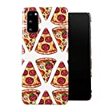 DODOX Slices of Italian Pepperoni Pizza Pattern Case Compatible with Samsung Galaxy S20 Snap-On Hard Plastic Protective Shell Cover Carcasa