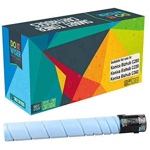 Cartuccia toner Do it wiser compatibile in sostituzione di Konica Minolta Bizhub C220 C280 C360 | TN216C TN319C A11G431 A11G430 (Ciano)