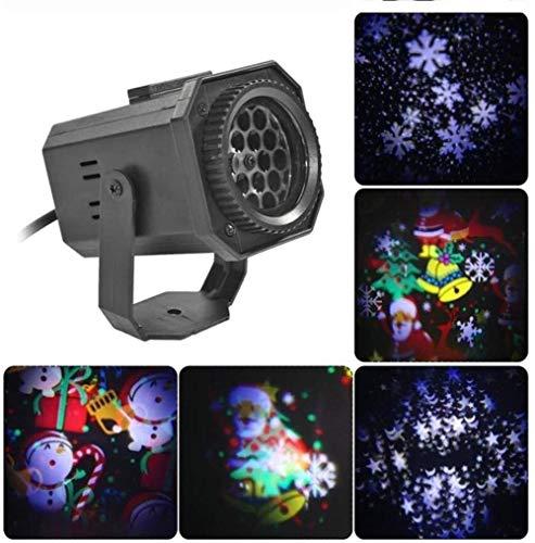 ZCX Copo de nieve LED de luz del proyector, proyector de las nevadas de Navidad llevó las luces de Nevadas luces LED con las vacaciones remoto Partes de Control for el hogar al aire libre y el cumplea