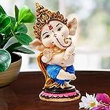 Karigaari India Handcrafted Polyresin Eco Friendly Lord Ganesha Ganpati Idol Figurine | Lord Ganesha Statue for Home Decoration (Multicolor)