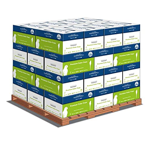 Hammermill Printer Paper, Premium Color 32 lb Copy Paper, 8.5 x 11 - 1 Pallet, 32 Cases (128,000 Sheets) - 100 Bright, Made in the USA, 102630P