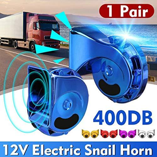 KoelrMsd Universal Loud 400DB 12V Bocina de Caracol eléctrica Bocina de Aire...