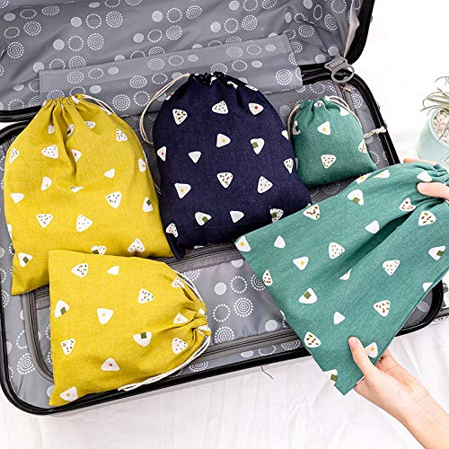 BAIGM 6 bolsas de algodón y lino con cordón, bolsas de regalo para manualidades, bolsa de muselina lavable, bolsa de joyería transpirable para viajes, bodas, suministros para fiestas