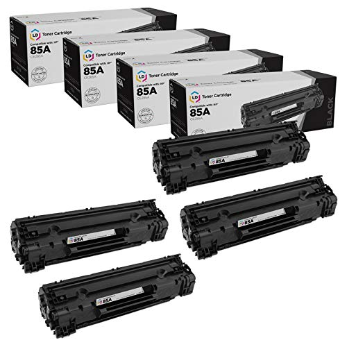 LD Compatible Toner Cartridge Replacement for HP 85A CE285A (Black, 4-Pack)