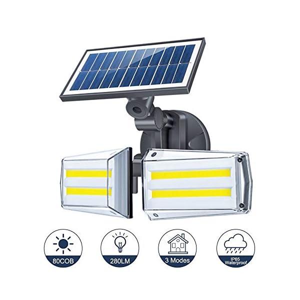 Luz-Solar-Exterior-Foco-80-LED-con-Sensor-de-Movimiento-80-LED-Impermeable-IP65-Gran-ngulo-270-de-Iluminacin-3-Modos-Inteligentes-para-Entrada-Garaje-Patio-Jardn-Decorativa