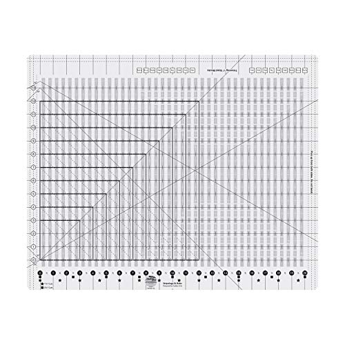 Creative Grids Stripology XL Slotted Quilting Ruler, Template Designed by Gudrun Erla, Patented Non-Slip Grip