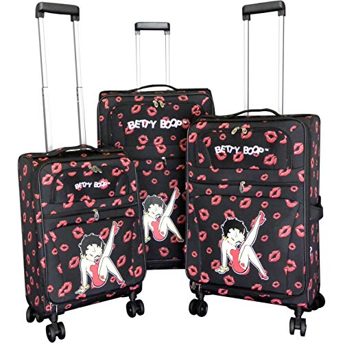 Betty Boop 3 pcs luggage set pink 4 pairs wheels Expandable Spinner 28'