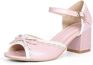 BalaMasa Womens ASL06954 Pu Heeled Sandals