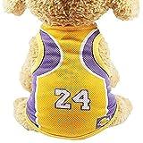 Dog Sweatshirt Pet T-Shirt, Dog Summer Apparel Puppy Pet Clothes for Dogs Cute Soft Vest Football Team (S 9.8