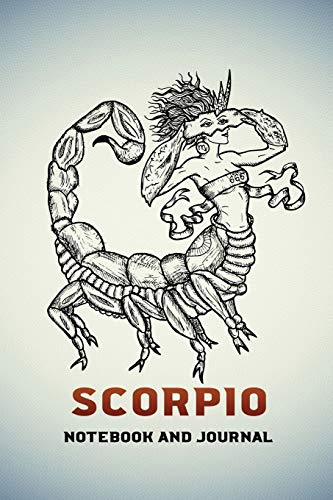 Scorpio Notebook and Journal: Fantasy Style Zodiac Star Sign Horoscope Journal, Diary, Notebook or Log, Birthday Christmas Gift for Men, Women and Kids | 118 pages | 6x9 Easy Carry Compact Size
