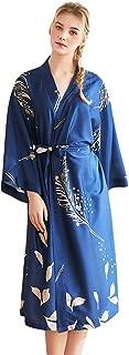 Acqrobe Women Dressing Gown Satin Kimono Robe Long Dress Spa Lounge Nightwear