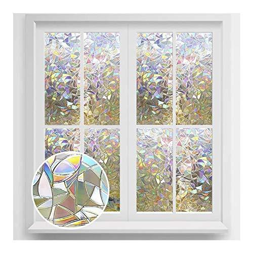 rabbitgoo 3D Fensterfolie Selbstklebend Dekorfolie Sichtschutzfolie Statisch Haftend Anti-UV - 90cm*200cm