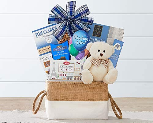 Wine Country Gift Baskets Bear Hugs Thinking Of You Gift Basket Condolences Sorry for Your Loss product image