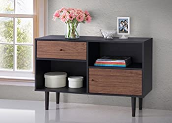 Mid-century modern cabinet black and brown