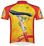 Primal Wear Easy Rider Frog Cycling Jersey Men's Large Short Sleeve Orange