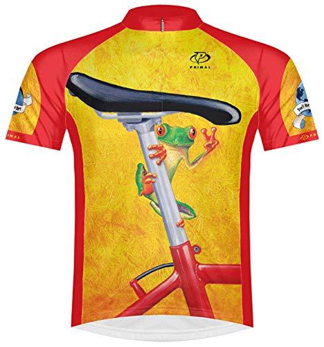 Primal Wear Easy Rider Frog Cycling Jersey Men's Medium Short Sleeve