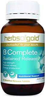 Herbs of Gold B Complete Sustained Release 60 Tablets, 60 count