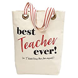 Christmas Gifts for Teachers: Best Teacher Ever Tote Bag