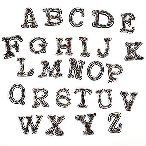 26 parches de letras del alfabeto, bordados para coser en apliques para...