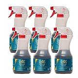 INOX® Limpiador de llantas Concentrado, 6 x 500ml - para llantas de aluminio y acero que elimina la suciedad pesada como el óxido y el polvo de los frenos