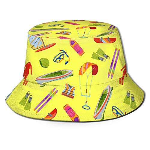 Sombrero de Pescador Summer Beach Camp Bucket Cap Sol Mujeres Hombres Hot Unisex Fashion-O1