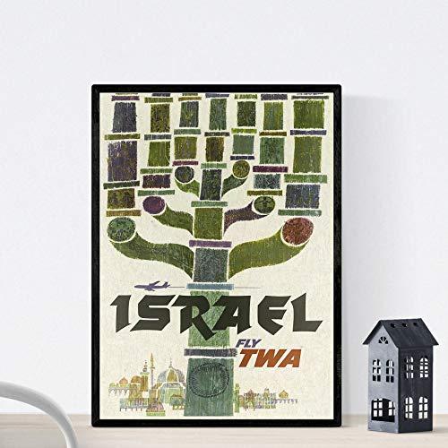 Nacnic Vintage Poster Vintage Plakatwerbung. Israel kennt. A3 Größe
