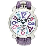 [ガガミラノ] 腕時計 マニュアーレ48mm ホワイト文字盤 手巻 カーフ革ベルト スモールセコンド 日常生活防水 5010.09S-PUR 並行輸入品 パープル