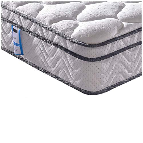 Vesgantti 4FT6 Double Mattress, 10.3 Inch Pocket Sprung Mattress Double with Breathable Foam and Individually Wrapped Spring - Medium Firm Feel, Classic Box Top Collection