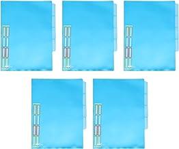 TOYANDONA 5 Stks Muti-Kleur Bestand Clips A4 Papier Houders Multi-Pagina Bestandsmappen Voor Thuis School Kantoor (Blauw)