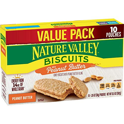 Nature Valley Biscuits 10 Count Box Peanut Butter 135 Ounce