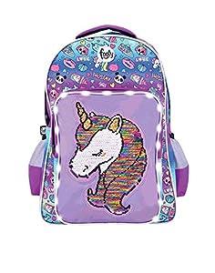 FOOTY | Mochilas Escolares Juveniles Originales con Unicornios | para Niñas y Chicas Adolescentes | con Cremallera | Ideal para Lucir en Colegios, Institutos o Universidades