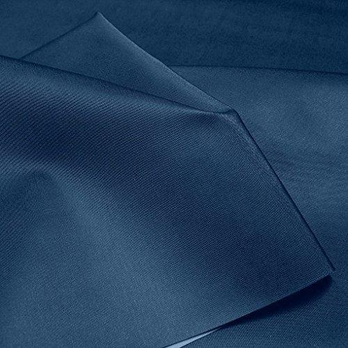 TOLKO 50cm Premium Bezugstoff/Möbelstoff zum Polstern Beziehen   Polster-Stoff Bezug für Innen und Außenbereich UV-beständig Wasserdicht   140cm Breit Polsterstoffe Bezugstoffe Meterware (Dunkelblau)